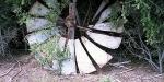 Old wind mill at South Rakaia Huts, Canterbury.
