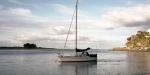Yacht at Moncks Bay, Redcliffs, Christchurch.