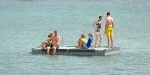 Bathers on a pontoon, Akaroa Harbour, January 2013