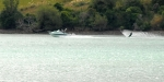 Water skiing in Akaroa Harbour