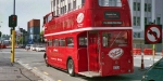 Red Double-Decker Bus, Christchurch. May 2014
