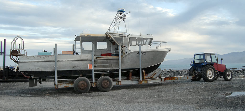 Fishing boats at kaikoura south bay south island new for Outboard motors for sale nz