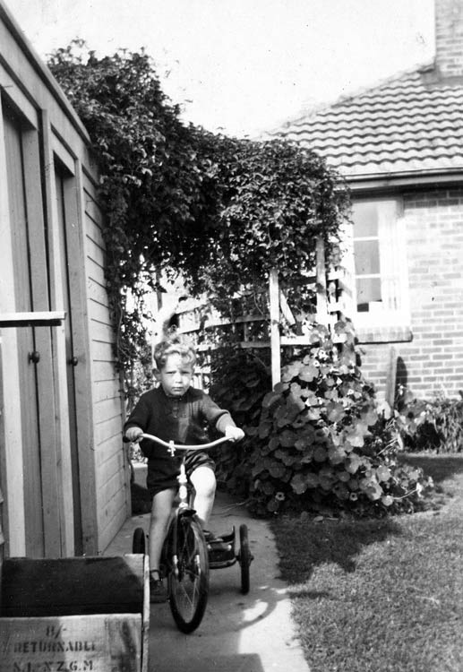 Kodak Box Brownie. Tricycle aged four years.