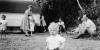 Kodak Box Brownie. Family photograph.