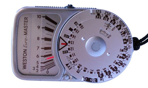 Western Euro-Master light meter photograph.