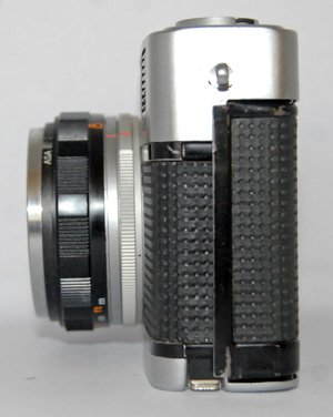 The Olympus Trip 35 is very compact. A good camera to slip in your pocket.