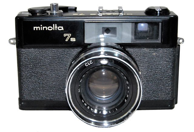 Minolta Hi-Matic 7s black paint version.