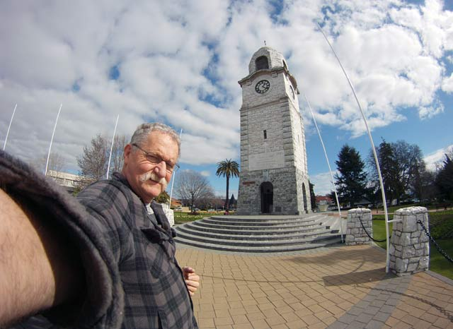 Wide-angle photographs taken with the GoPro have tremendous depth-of-field. Here I am holding the GoPro in my hand and yet the whole picture is in focus.
